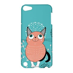 Cat Face Mask Smile Cute Leaf Flower Floral Apple Ipod Touch 5 Hardshell Case by Mariart