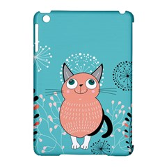 Cat Face Mask Smile Cute Leaf Flower Floral Apple Ipad Mini Hardshell Case (compatible With Smart Cover) by Mariart