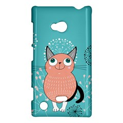Cat Face Mask Smile Cute Leaf Flower Floral Nokia Lumia 720 by Mariart