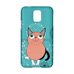 Cat Face Mask Smile Cute Leaf Flower Floral Samsung Galaxy S5 Hardshell Case  by Mariart