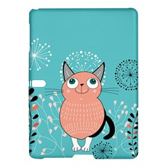 Cat Face Mask Smile Cute Leaf Flower Floral Samsung Galaxy Tab S (10 5 ) Hardshell Case  by Mariart
