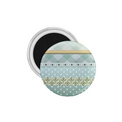 Circle Polka Plaid Triangle Gold Blue Flower Floral Star 1 75  Magnets by Mariart