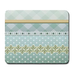 Circle Polka Plaid Triangle Gold Blue Flower Floral Star Large Mousepads by Mariart