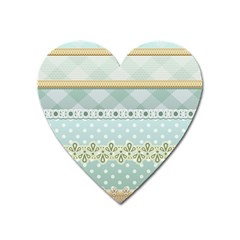 Circle Polka Plaid Triangle Gold Blue Flower Floral Star Heart Magnet by Mariart