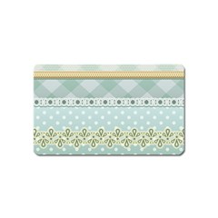 Circle Polka Plaid Triangle Gold Blue Flower Floral Star Magnet (name Card) by Mariart