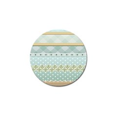 Circle Polka Plaid Triangle Gold Blue Flower Floral Star Golf Ball Marker (10 Pack) by Mariart