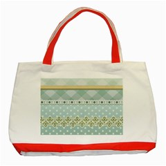 Circle Polka Plaid Triangle Gold Blue Flower Floral Star Classic Tote Bag (red) by Mariart
