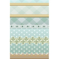 Circle Polka Plaid Triangle Gold Blue Flower Floral Star 5 5  X 8 5  Notebooks by Mariart