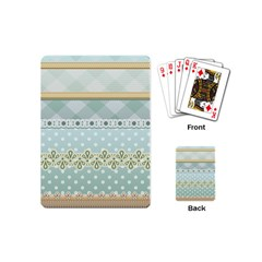 Circle Polka Plaid Triangle Gold Blue Flower Floral Star Playing Cards (mini)  by Mariart