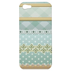 Circle Polka Plaid Triangle Gold Blue Flower Floral Star Apple Iphone 5 Hardshell Case by Mariart