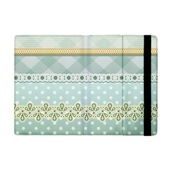 Circle Polka Plaid Triangle Gold Blue Flower Floral Star Apple Ipad Mini Flip Case by Mariart