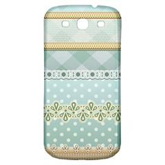 Circle Polka Plaid Triangle Gold Blue Flower Floral Star Samsung Galaxy S3 S Iii Classic Hardshell Back Case by Mariart