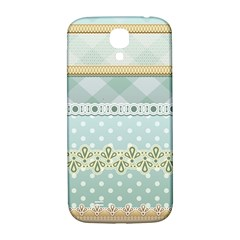 Circle Polka Plaid Triangle Gold Blue Flower Floral Star Samsung Galaxy S4 I9500/i9505  Hardshell Back Case by Mariart