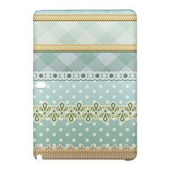 Circle Polka Plaid Triangle Gold Blue Flower Floral Star Samsung Galaxy Tab Pro 12 2 Hardshell Case by Mariart