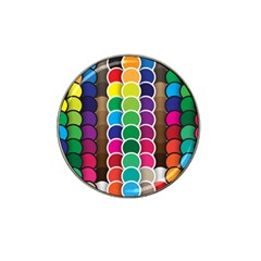 Circle Round Yellow Green Blue Purple Brown Orange Pink Hat Clip Ball Marker (4 Pack) by Mariart