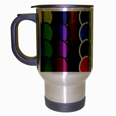 Circle Round Yellow Green Blue Purple Brown Orange Pink Travel Mug (silver Gray) by Mariart