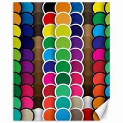 Circle Round Yellow Green Blue Purple Brown Orange Pink Canvas 11  X 14   by Mariart