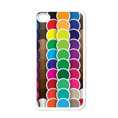 Circle Round Yellow Green Blue Purple Brown Orange Pink Apple Iphone 4 Case (white) by Mariart