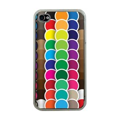 Circle Round Yellow Green Blue Purple Brown Orange Pink Apple Iphone 4 Case (clear) by Mariart