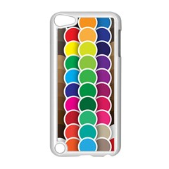 Circle Round Yellow Green Blue Purple Brown Orange Pink Apple Ipod Touch 5 Case (white) by Mariart
