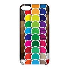 Circle Round Yellow Green Blue Purple Brown Orange Pink Apple Ipod Touch 5 Hardshell Case With Stand
