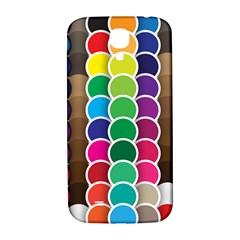 Circle Round Yellow Green Blue Purple Brown Orange Pink Samsung Galaxy S4 I9500/i9505  Hardshell Back Case by Mariart
