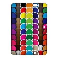 Circle Round Yellow Green Blue Purple Brown Orange Pink Kindle Fire Hdx 8 9  Hardshell Case by Mariart