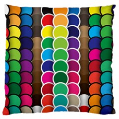 Circle Round Yellow Green Blue Purple Brown Orange Pink Standard Flano Cushion Case (two Sides) by Mariart