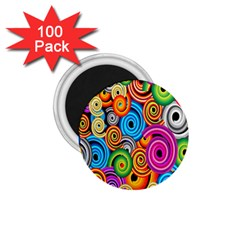 Circle Round Hole Rainbow 1 75  Magnets (100 Pack)  by Mariart