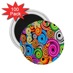 Circle Round Hole Rainbow 2 25  Magnets (100 Pack)  by Mariart