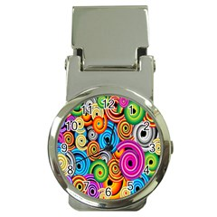 Circle Round Hole Rainbow Money Clip Watches by Mariart