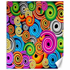 Circle Round Hole Rainbow Canvas 8  X 10  by Mariart
