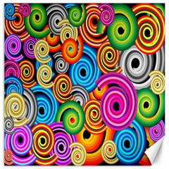 Circle Round Hole Rainbow Canvas 12  X 12   by Mariart