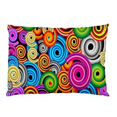 Circle Round Hole Rainbow Pillow Case by Mariart