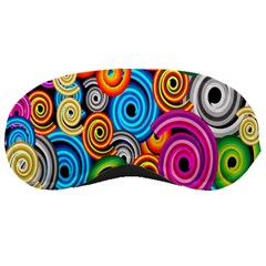 Circle Round Hole Rainbow Sleeping Masks by Mariart