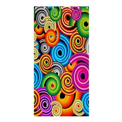 Circle Round Hole Rainbow Shower Curtain 36  X 72  (stall)  by Mariart