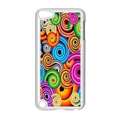 Circle Round Hole Rainbow Apple Ipod Touch 5 Case (white) by Mariart