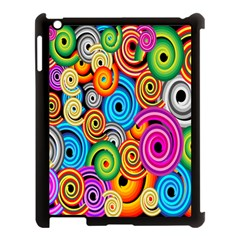 Circle Round Hole Rainbow Apple Ipad 3/4 Case (black) by Mariart