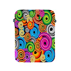 Circle Round Hole Rainbow Apple Ipad 2/3/4 Protective Soft Cases by Mariart