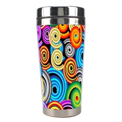 Circle Round Hole Rainbow Stainless Steel Travel Tumblers by Mariart