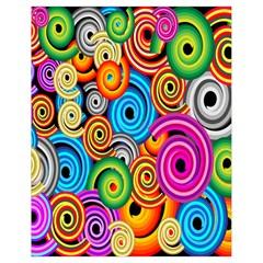 Circle Round Hole Rainbow Drawstring Bag (small) by Mariart