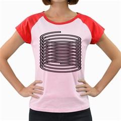 Circular Iron Women s Cap Sleeve T Shirt by Mariart
