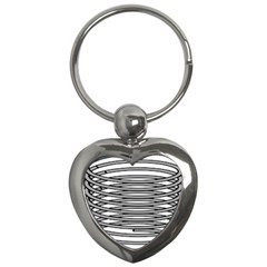 Circular Iron Key Chains (heart)  by Mariart