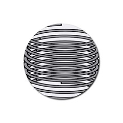 Circular Iron Rubber Coaster (round)  by Mariart