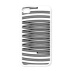 Circular Iron Apple Iphone 4 Case (white) by Mariart