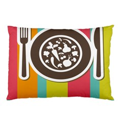 Dinerplate Tablemaner Food Fok Knife Pillow Case (two Sides) by Mariart