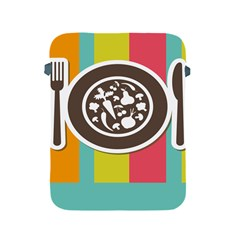 Dinerplate Tablemaner Food Fok Knife Apple Ipad 2/3/4 Protective Soft Cases by Mariart