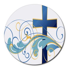 Easter Clip Art Free Religious Round Mousepads by Mariart