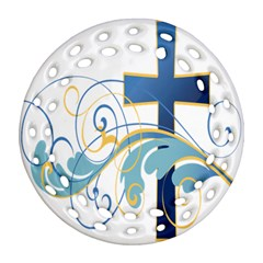 Easter Clip Art Free Religious Ornament (round Filigree) by Mariart