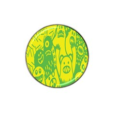 Easter Monster Sinister Happy Green Yellow Magic Rock Hat Clip Ball Marker (10 Pack) by Mariart